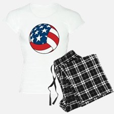 American Flag Volleyball Pajamas