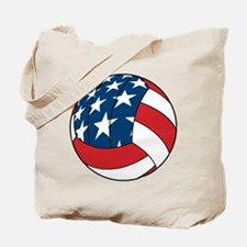 American Flag Volleyball Tote Bag