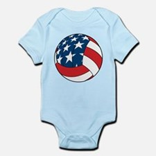 American Flag Volleyball Infant Bodysuit
