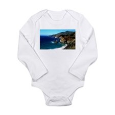 Big Sur on the Pacific Coast Long Sleeve Infant Bo