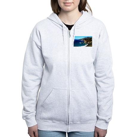 Big Sur on the Pacific Coast Women's Zip Hoodie