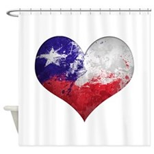 Chilean heart Shower Curtain