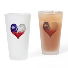 Chilean heart Drinking Glass