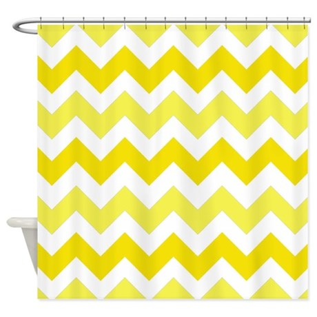 Yellow Chevron Stripes Shower Curtain By Chevroncitystripes