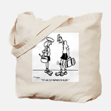 An Old Badminton Injury Tote Bag