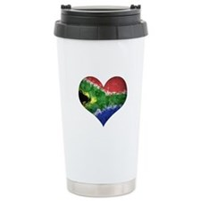 South African heart Travel Mug