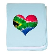 South African heart baby blanket