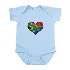 South African heart Infant Bodysuit