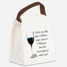 Men are like fine Wine Canvas Lunch Bag