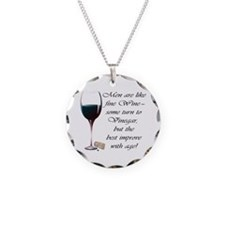 Men are like fine Wine Necklace