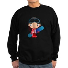 Snowboarder Girl Cartoon Sweatshirt
