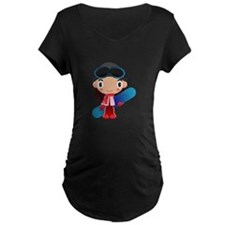Snowboarder Girl Cartoon T-Shirt