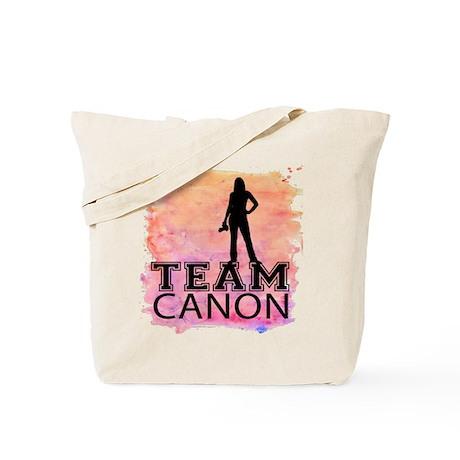 Team Canon Watercolor Tote Bag