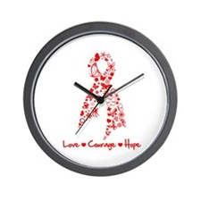 Love Courage Hope MDS Wall Clock