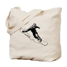 Snowboarder Tote Bag