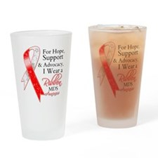 Hope Support MDS Ribbon Drinking Glass