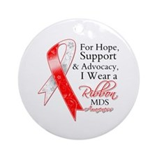 Hope Support MDS Ribbon Ornament (Round)