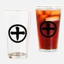Ju-moji in circle Drinking Glass