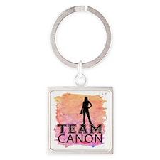 Team Canon Watercolor Square Keychain