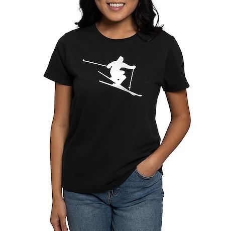 Extreme Skier Silhouette Women's Dark T-Shirt
