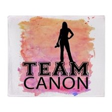 Team Canon Watercolor Throw Blanket