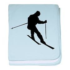 Downhill Skier baby blanket
