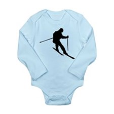 Downhill Skier Long Sleeve Infant Bodysuit