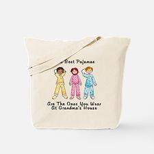 Pajamas at Grandmas Tote Bag