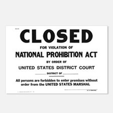 Prohibition Sign Postcards (Package of 8)