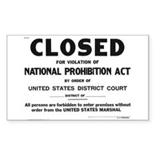 Prohibition Sign Decal