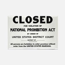 Prohibition Sign Rectangle Magnet