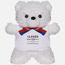 Prohibition Sign Teddy Bear