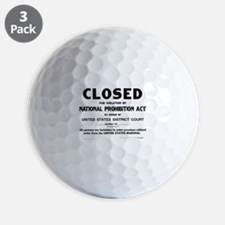 Prohibition Sign Golf Ball