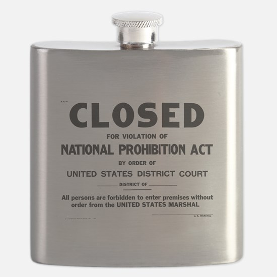 Prohibition Sign Flask