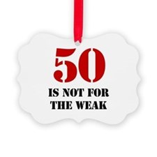 50th Birthday Gag Gift Ornament
