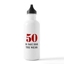 50th Birthday Gag Gift Water Bottle