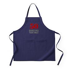 50th Birthday Gag Gift Apron (dark)