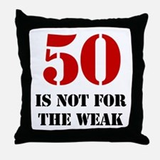50th Birthday Gag Gift Throw Pillow