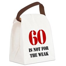 60th Birthday Gag Gift Canvas Lunch Bag