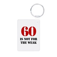 60th Birthday Gag Gift Keychains