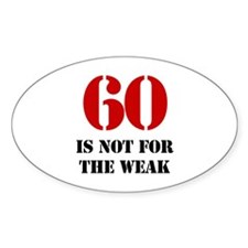 60th Birthday Gag Gift Decal