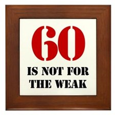 60th Birthday Gag Gift Framed Tile