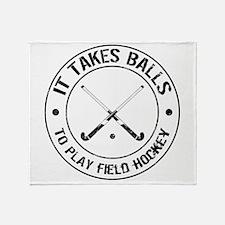 It Takes Balls To Play Field Hockey Stadium Blank