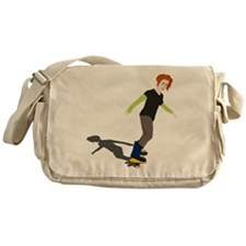 Girl On Skateboard Messenger Bag
