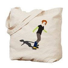 Girl On Skateboard Tote Bag