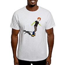 Girl On Skateboard T-Shirt