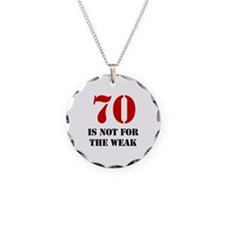 70th Birthday Gag Gift Necklace Circle Charm