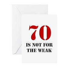 70th Birthday Gag Gift Greeting Cards (Pk of 10)