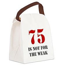 75th Birthday Gag Gift Canvas Lunch Bag