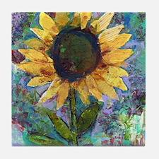 Sunflower Sunday Art Tile Coaster
